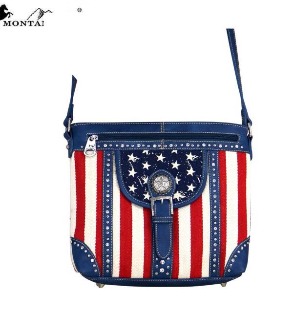<font color=Red>RED,WHITE, AND BLUE</font> :: Montana West Patriotic Collection Crossbody