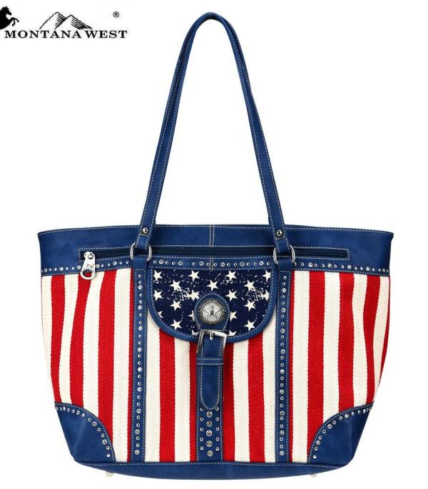 <font color=Red>RED,WHITE, AND BLUE</font> :: Montana West Patriotic Collection Tote