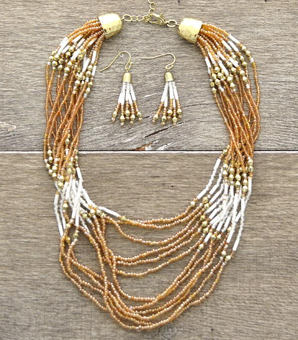 New Arrival :: Beaded Fashion Necklace Set