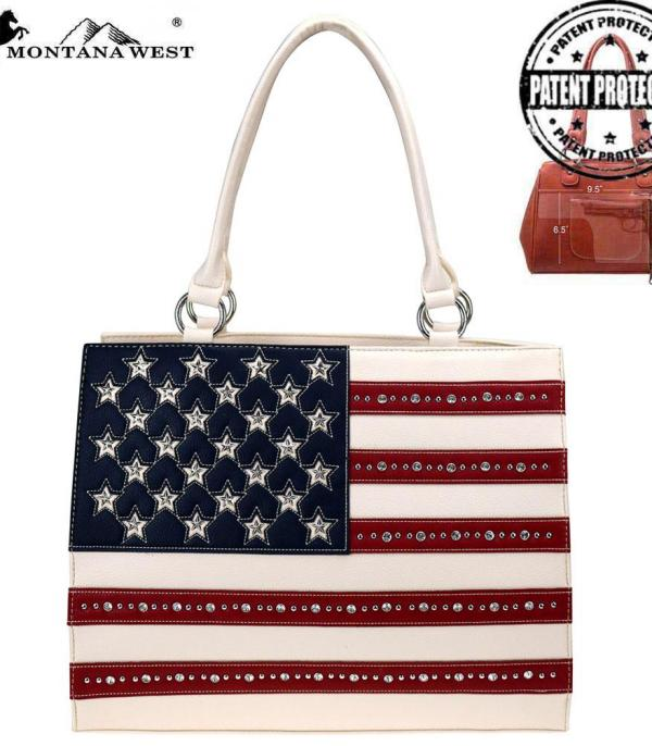 <font color=Red>RED,WHITE, AND BLUE</font> :: Montana West American Pride Collection Tote