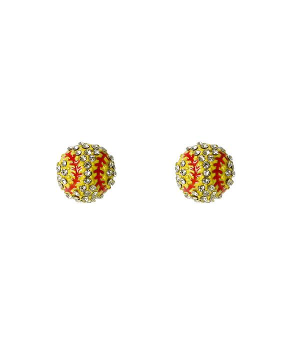 New Arrival :: Softball Stud Earrings