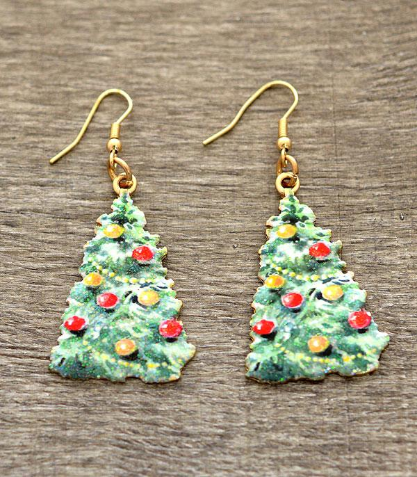 New Arrival :: Christmas Tree Dangle Earrings