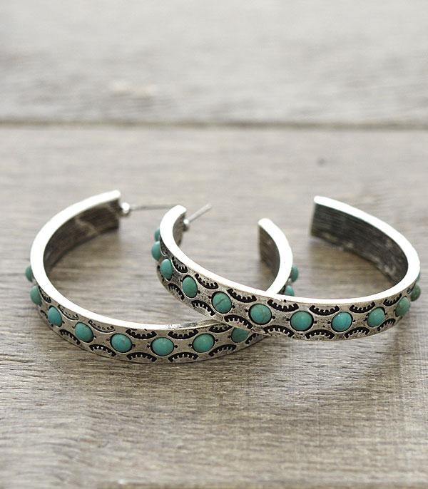 New Arrival :: Western Semi-Hoop Earrings