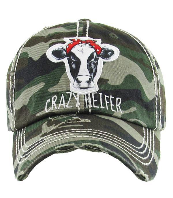 New Arrival :: Wholesale Crazy Heifer Vintage Hat