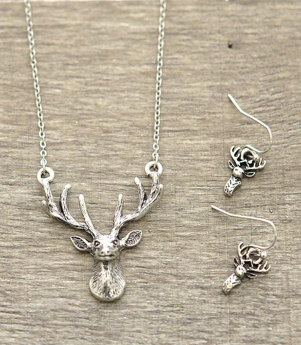 New Arrival :: Deer Head Necklace Set