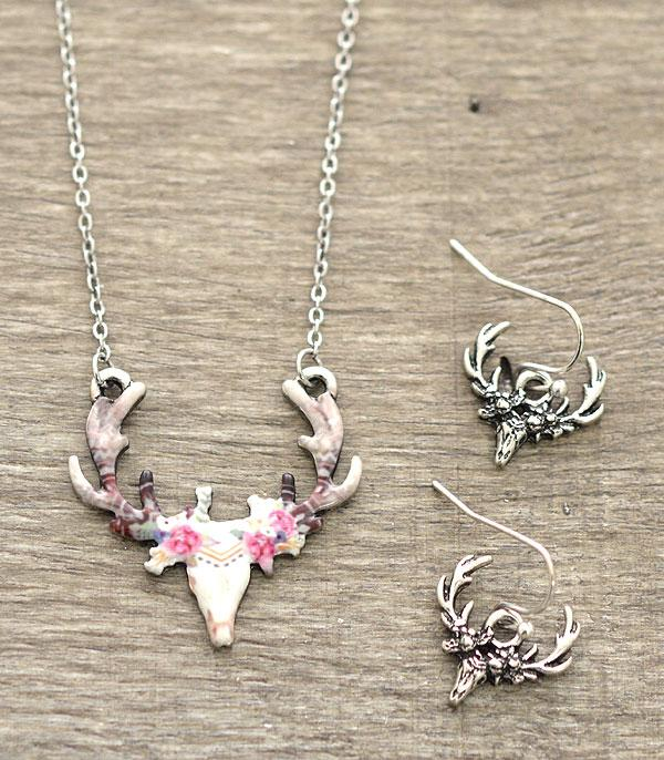 New Arrival :: Floral Deer Antlers Necklace