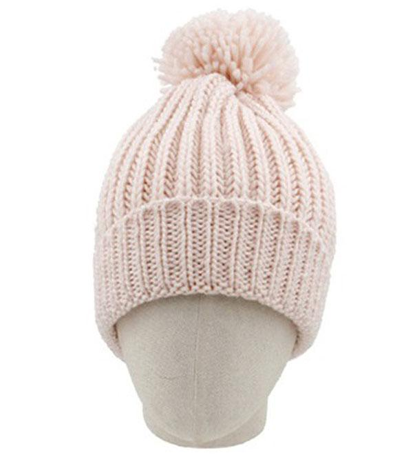 HATS :: SEASONAL :: Pom Pom Accent Beanie