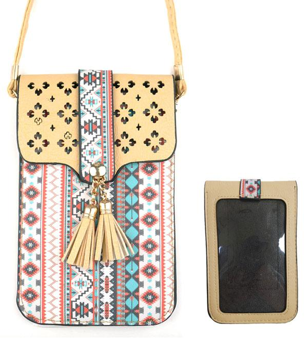 New Arrival :: Aztec Pattern Cellphone Crossbody