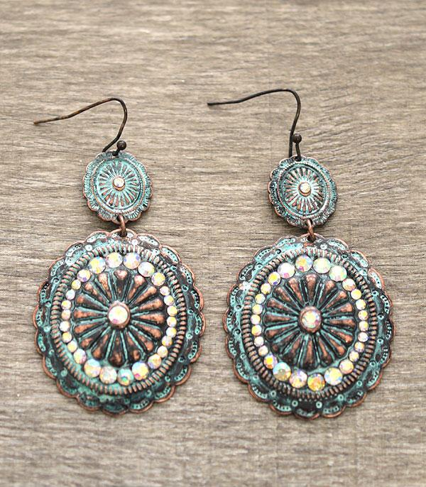 New Arrival :: Concho Dangle Earrings