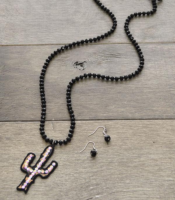 Wholesale handbag fashion jewelry necklaces western star gun at necklaces western star gun beaded cactus fashion necklace set aloadofball Choice Image