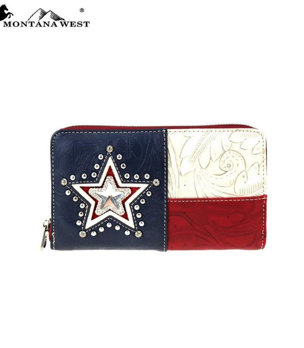 <font color=Red>RED,WHITE, AND BLUE</font> :: Texas Pride Collection Wallet