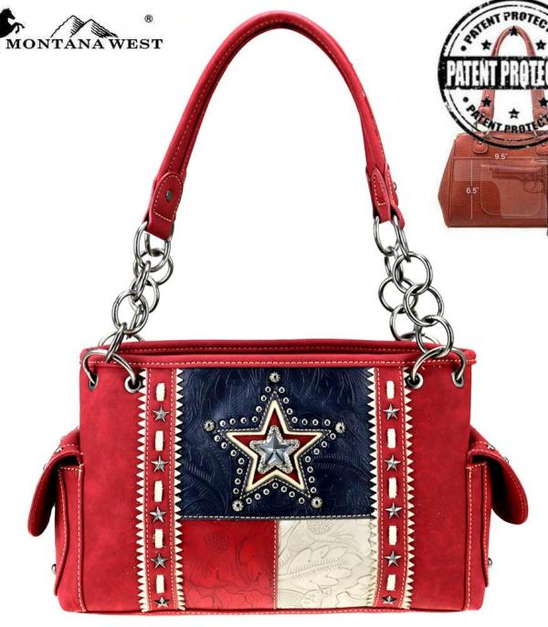 <font color=Red>RED,WHITE, AND BLUE</font> :: Texas Pride Collection Concealed Carry Satchel