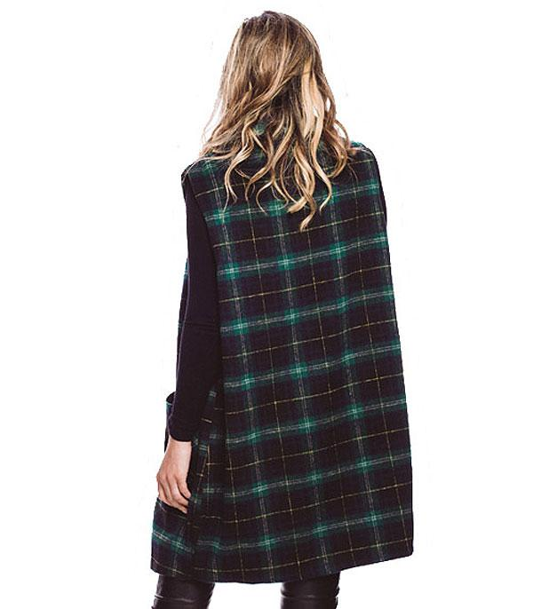 New Arrival :: Long Plaid Vest