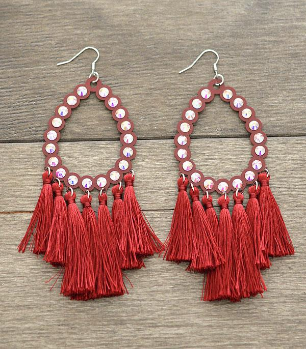 New Arrival :: Teardrop Tassel Earrings