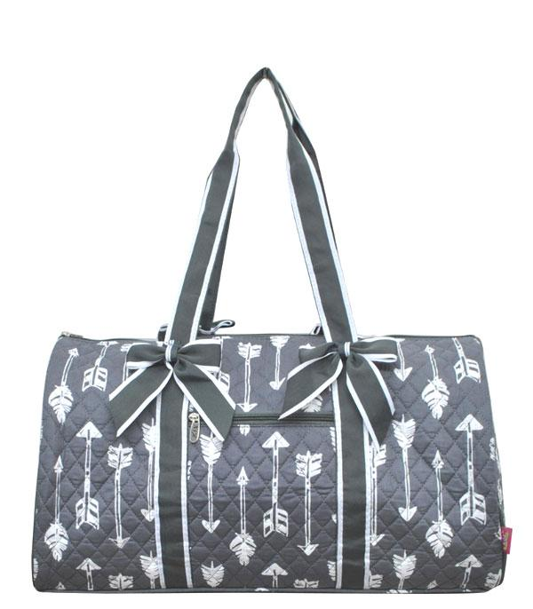 TRAVEL :: DUFFLE BAGS :: Arrow Print Quilted Duffle Bag