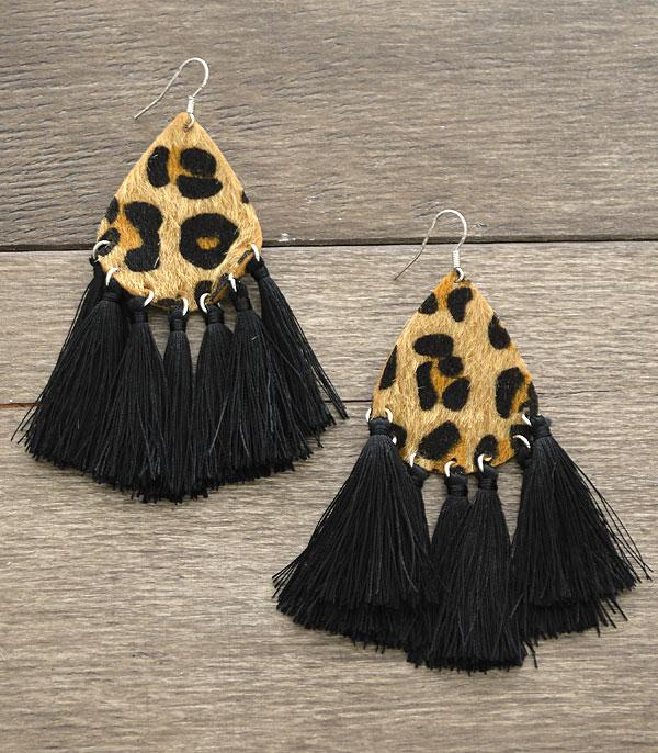 New Arrival :: Faux Fur Tassel Earrings