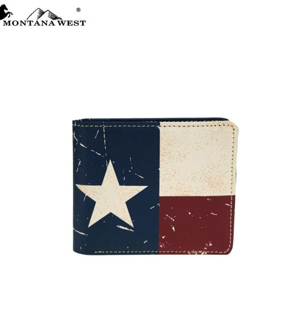 <font color=Red>RED,WHITE, AND BLUE</font> :: Genuine Leather Patriotic Collection Men's Wallet