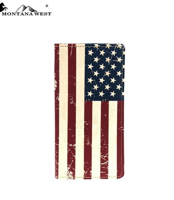 <font color=Red>RED,WHITE, AND BLUE</font> :: Genuine Patriotic Collection Men's Wallet