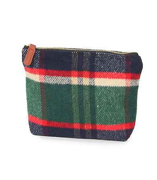 New Arrival :: Plaid Cosmetic Bag