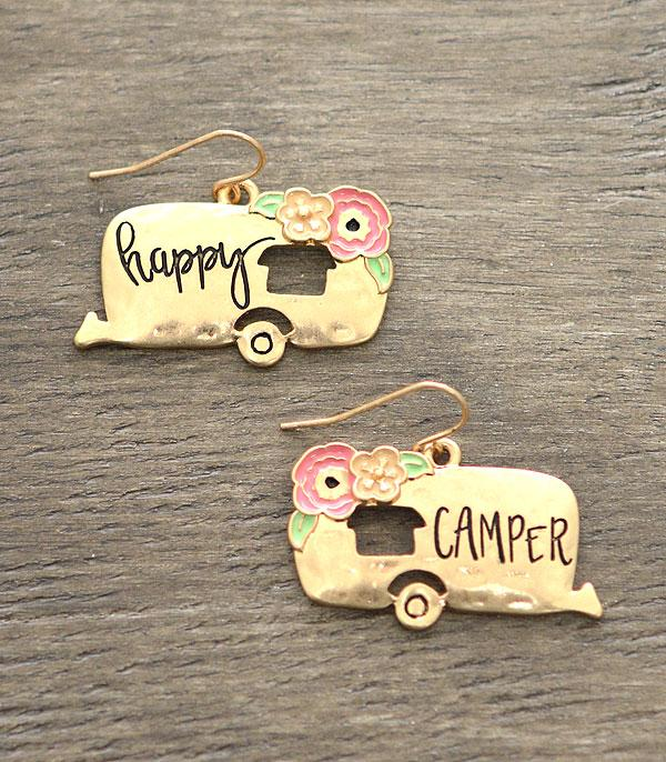 New Arrival :: Happy Camper Antiqued Earrings
