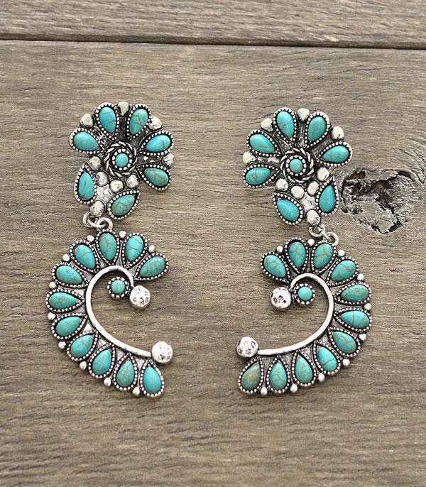 <font color=Turquoise>TURQUOISE JEWELRY</font> :: Western Turquoise Earrings