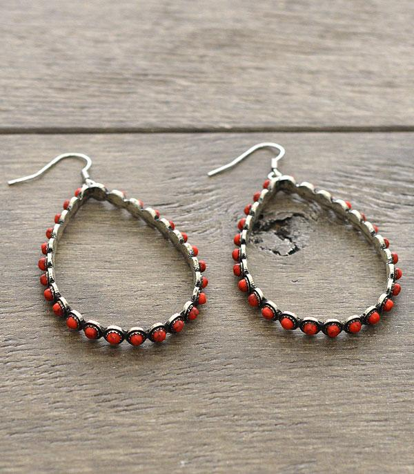 New Arrival :: Coral Hoop Earrings