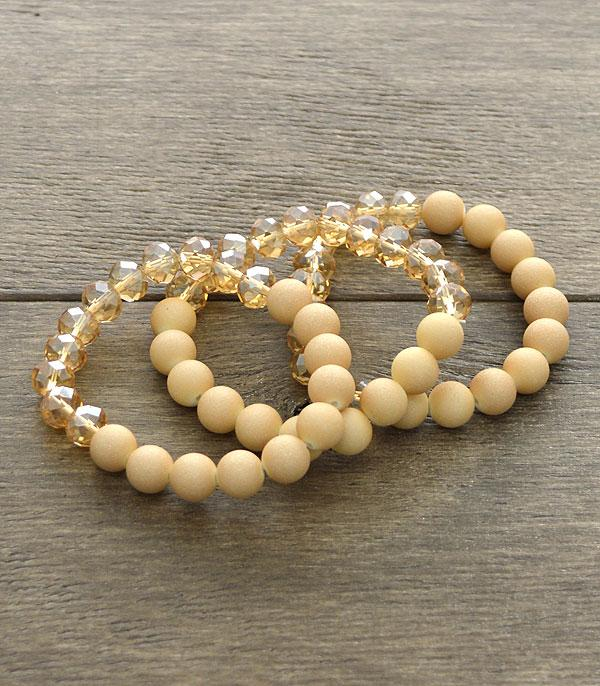 New Arrival :: 3PC Set Bead Bracelets