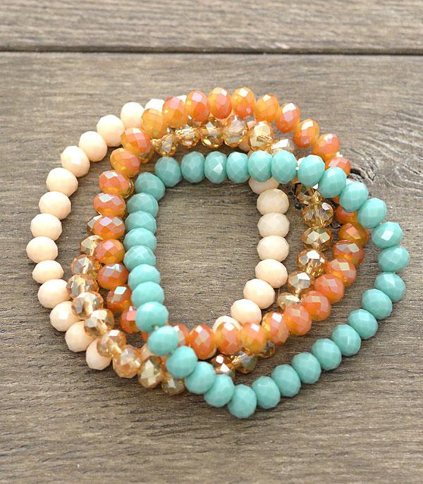 New Arrival :: Glass Bead Stacking Bracelets