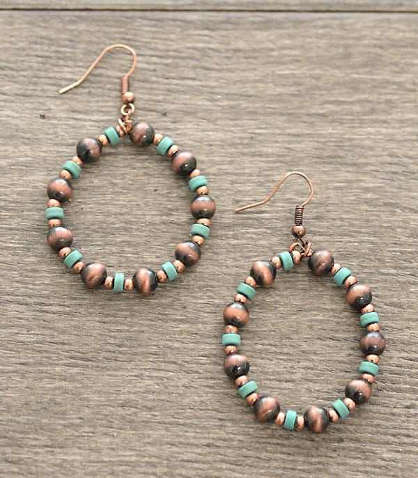 New Arrival :: Round Navajo Bead Earrings