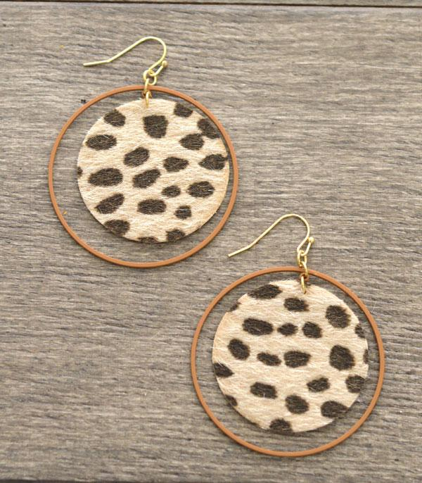 New Arrival :: Round Leopard Fashion Earrings