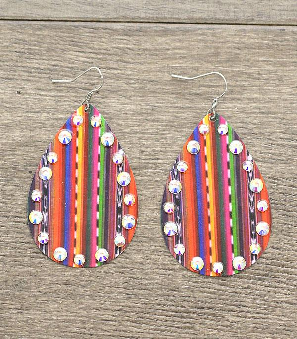 New Arrival :: Teardrop Serape Earrings