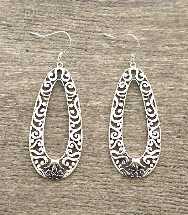 New Arrival :: Filigree Silver Earrings