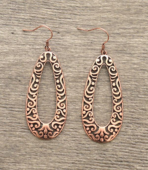 New Arrival :: Filigree Copper Earrings