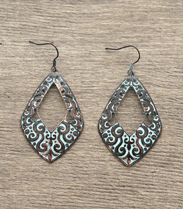 New Arrival :: Filigree Patina Earrings