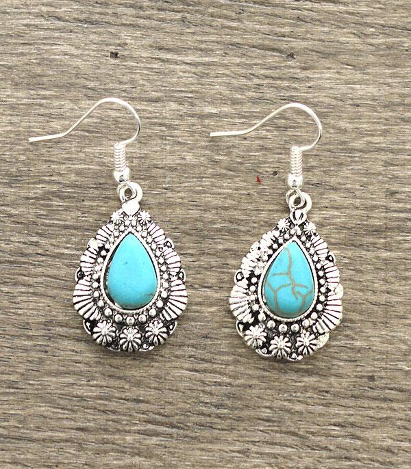 New Arrival :: Turquoise Dangle Earrings