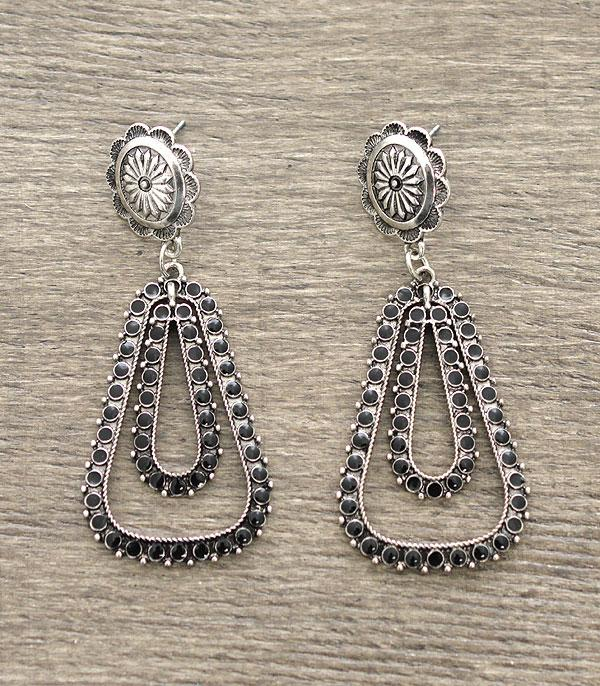 New Arrival :: Concho Stud w/Tear Drop Earrings