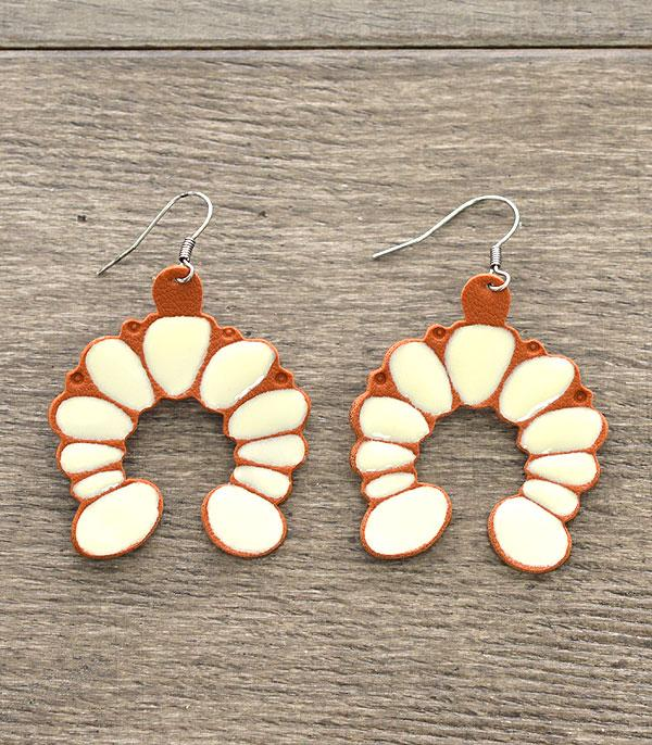 New Arrival :: Leather Squash Blossom Earrings