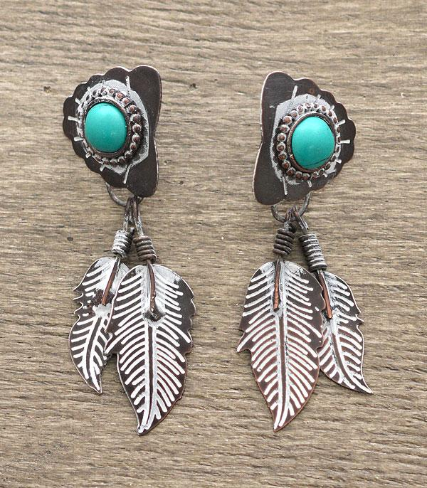 <font color=Turquoise>TURQUOISE JEWELRY</font> :: Handmade Feather Earrings