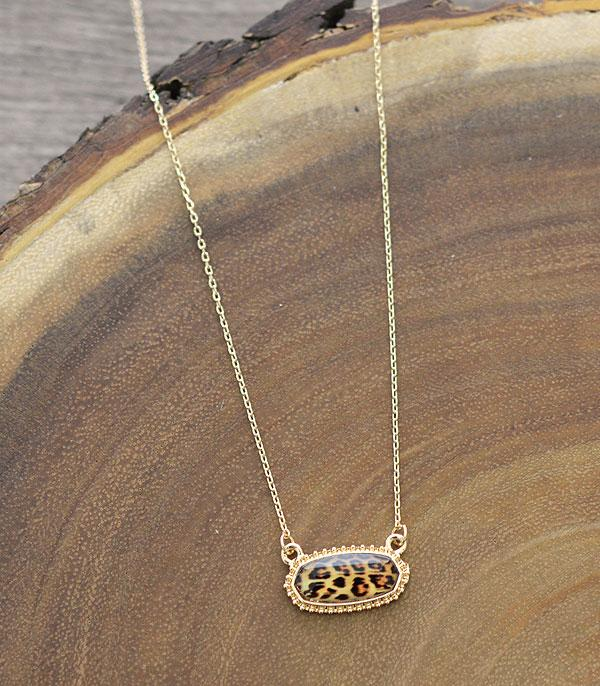 New Arrival :: Leopard Resin Necklace Set