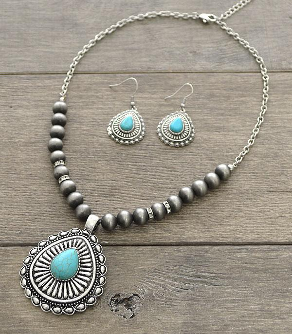 <font color=Turquoise>TURQUOISE JEWELRY</font> :: Western Navajo Turquoise Necklace