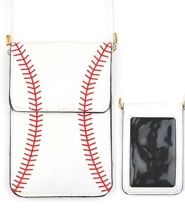 New Arrival :: Baseball Cellphone Crossbody Bag