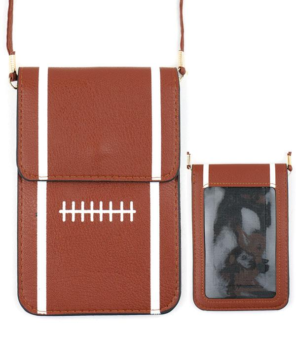 PHONE ACCESSORIES :: Football Cellphone Crossbody Bag