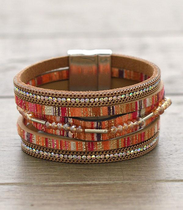 New Arrival :: Serape Leather Bracelet