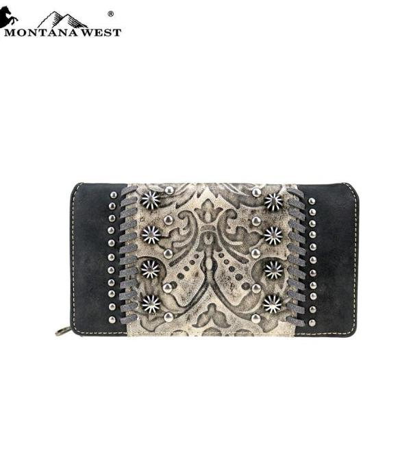 New Arrival :: Montana West Tooled Collection Wallet