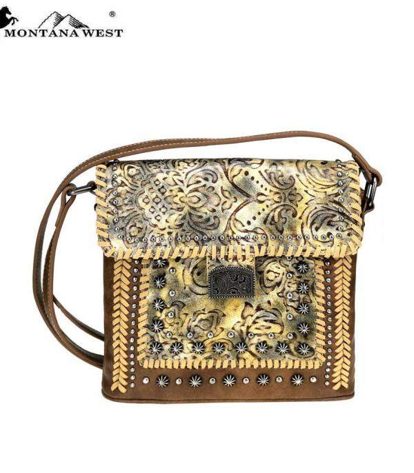 New Arrival :: Montana West Tooled Collection Crossbody