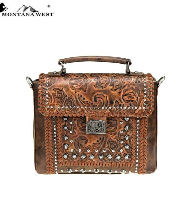 New Arrival :: Montana West Tooled Collection Satchel/Crossbody