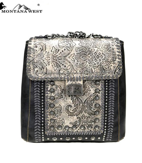 New Arrival :: Montana West Tooled Collection Backpack