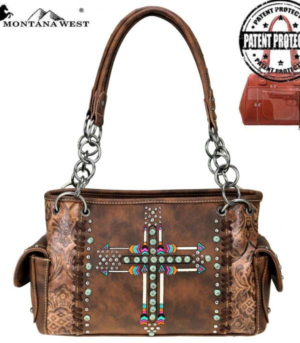 New Arrival :: Montana West Arrow Collection Concealed Satchel