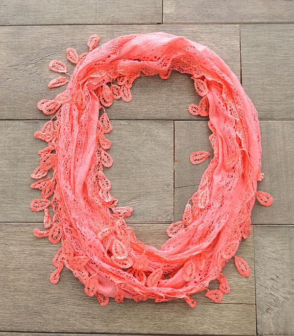 SCARVES / PONCHO :: INFINITY :: Soft Lace Infinity Scarf