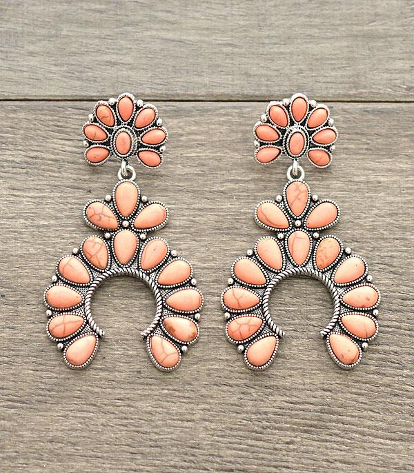 New Arrival :: Wholesale Tipi Squash Blossom Earrings
